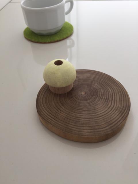 きのこときりかぶのポットコースター | ハンドメイド、手作り作品の通販 minne(ミンネ) (13009)