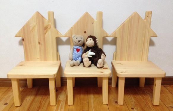 こどもいす 『おうち』   北欧  家具  椅子  |食器・家具|ハンドメイド通販・販売のCreema (13017)