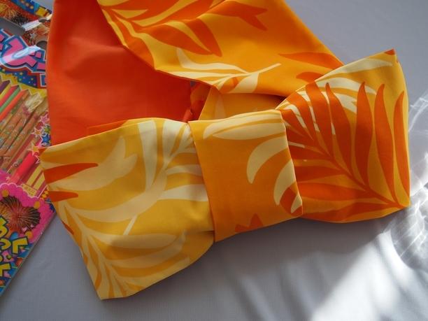 ハワイアンな半巾帯★オレンジ★リバーシブル | ファッション > 和服・和装小物 > 帯・帯締め | ハンドメイド・手作りマーケット tetote(テトテ) | 作品ID:ai2180736215 (13042)