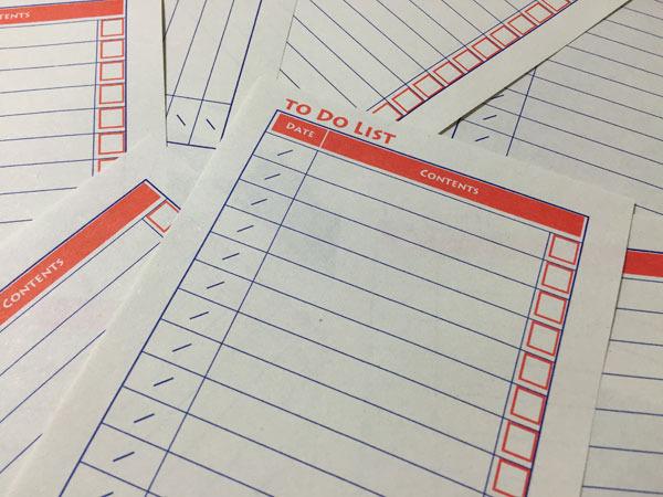 【再販】わら半紙To Do Listメモ(紺・朱) | ハンドメイド、手作り作品の通販 minne(ミンネ) (13145)