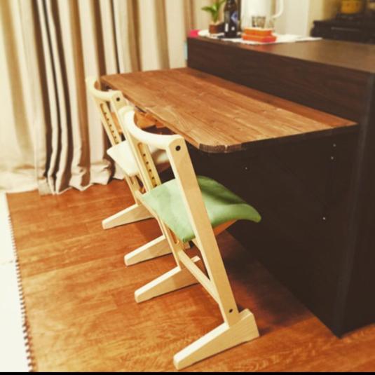 送料込♡折りたたみカウンターテーブル  アンティーク風 収納 木製 無垢   棚 折りたたみテーブル | ハンドメイド、手作り作品の通販 minne(ミンネ) (13198)