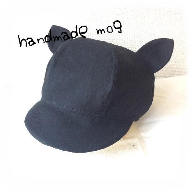 black☆みみ付きキャップ | ベビー&キッズ > ベビー服 > 帽子(~51cm) | ハンドメイド・手作りマーケット tetote(テトテ) | 作品ID:uz2118527694 (13251)