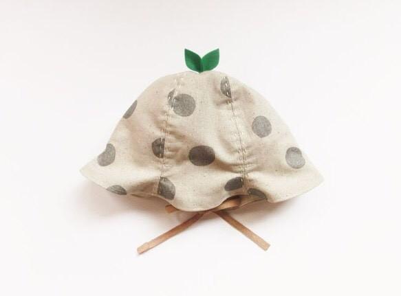 ぐんぐん大きくなあれ葉っぱハット ベビー&キッズ グリッターグレイドット|帽子|ハンドメイド通販・販売のCreema (13260)