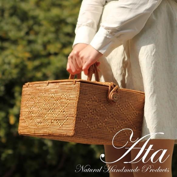 春のピクニックに!アタかごバッグL 大きめサイズ ランチボックス|かごバッグ|ハンドメイド通販・販売のCreema (13289)