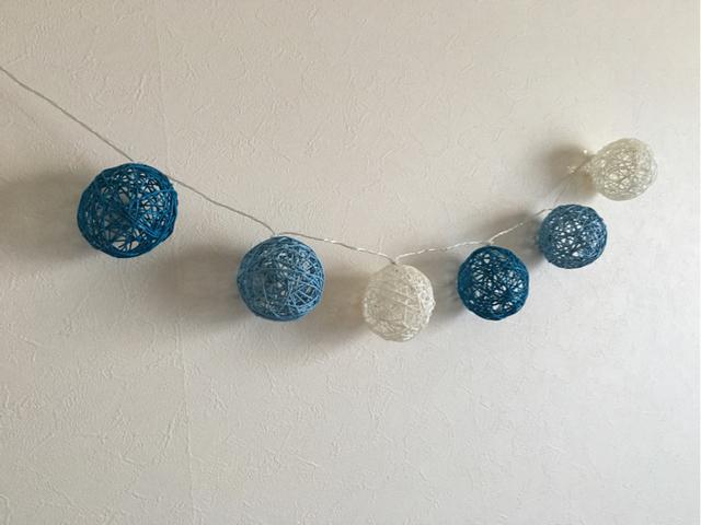 ガーランドライト(blue) | ハンドメイド、手作り作品の通販 minne(ミンネ) (13957)
