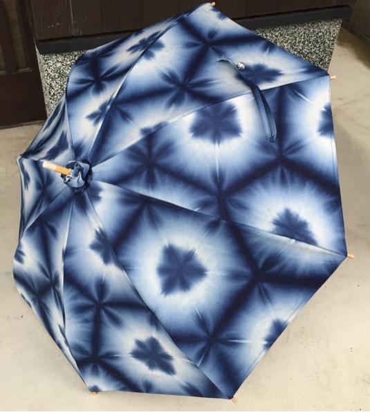 藍手染め 雪花絞りの日傘 浴衣姿にも合う | ハンドメイド、手作り作品の通販 minne(ミンネ) (14039)