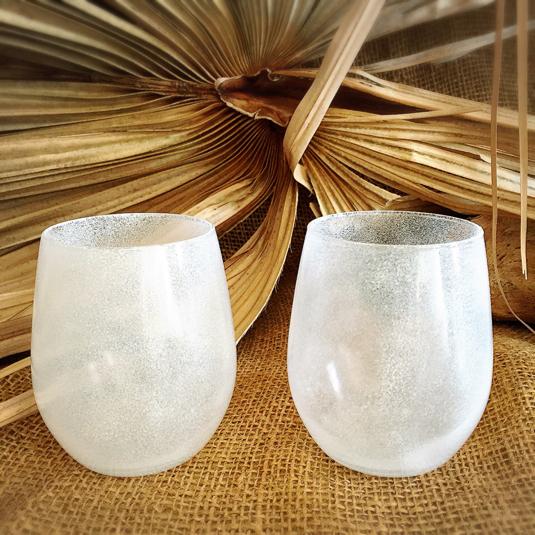 水風船白ペアグラス(300ml) | ハンドメイド、手作り作品の通販 minne(ミンネ) (14129)