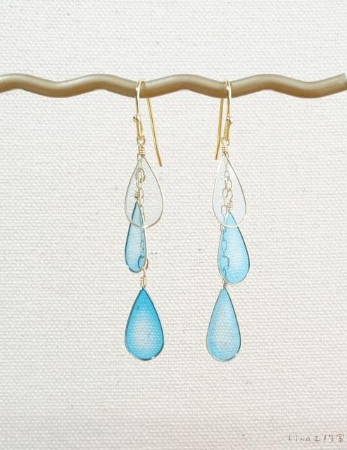 水色の雨つぶピアス〈再販4〉 | ハンドメイド、手作り作品の通販 minne(ミンネ) (14143)