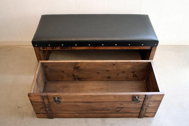 宝箱ベンチ Bench of treasure chest MI-MI-MOKO | ハンドメイド、手作り作品の通販 minne(ミンネ) (14229)