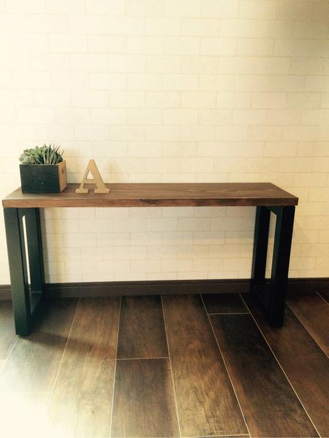 アイアン  サイドテーブルベンチ  インダストリアルインテリア | ハンドメイド、手作り作品の通販 minne(ミンネ) (14235)