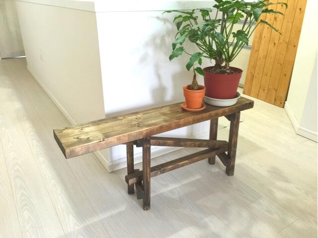 無垢材 * 古材風 * 椅子 * ベンチ | ハンドメイド、手作り作品の通販 minne(ミンネ) (14238)
