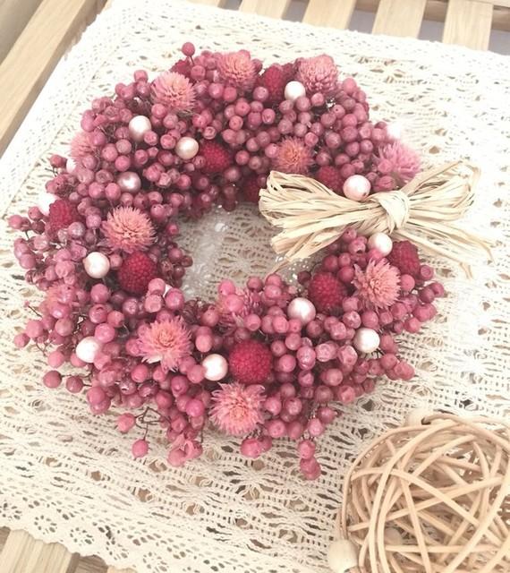 ベリーベリーリース  ミニ|フラワー・リース|Arcobaleno  flowers|ハンドメイド通販・販売のCreema (14471)