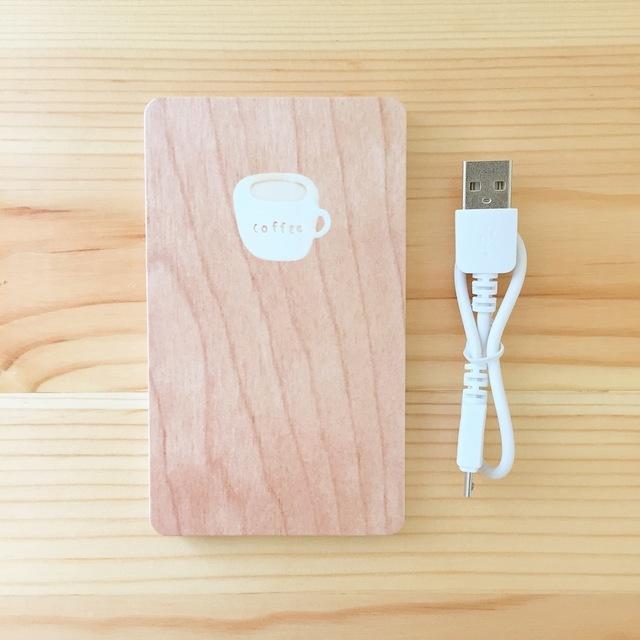 コーヒーのモバイルバッテリー(ウッド調) | ハンドメイド、手作り作品の通販 minne(ミンネ) (14484)