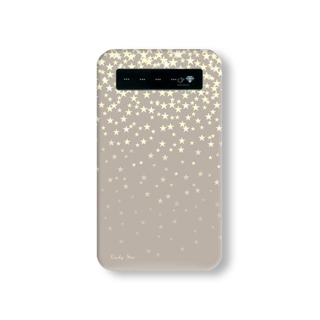 *Twinkling Stars★ベージュ* モバイルバッテリー | ハンドメイド、手作り作品の通販 minne(ミンネ) (14487)